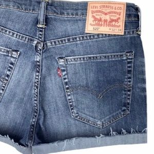 Levi's 527 High Waisted Denim Shorts